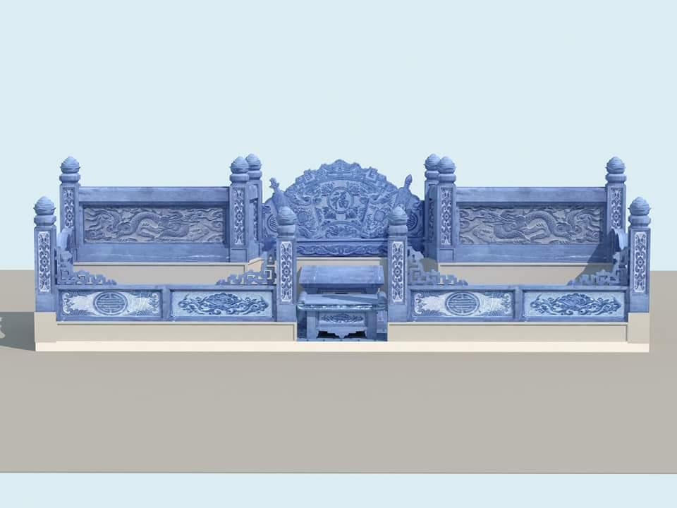 Phối cảnh thiết kế xây dựng Khu Lăng mộ đá đẹp
