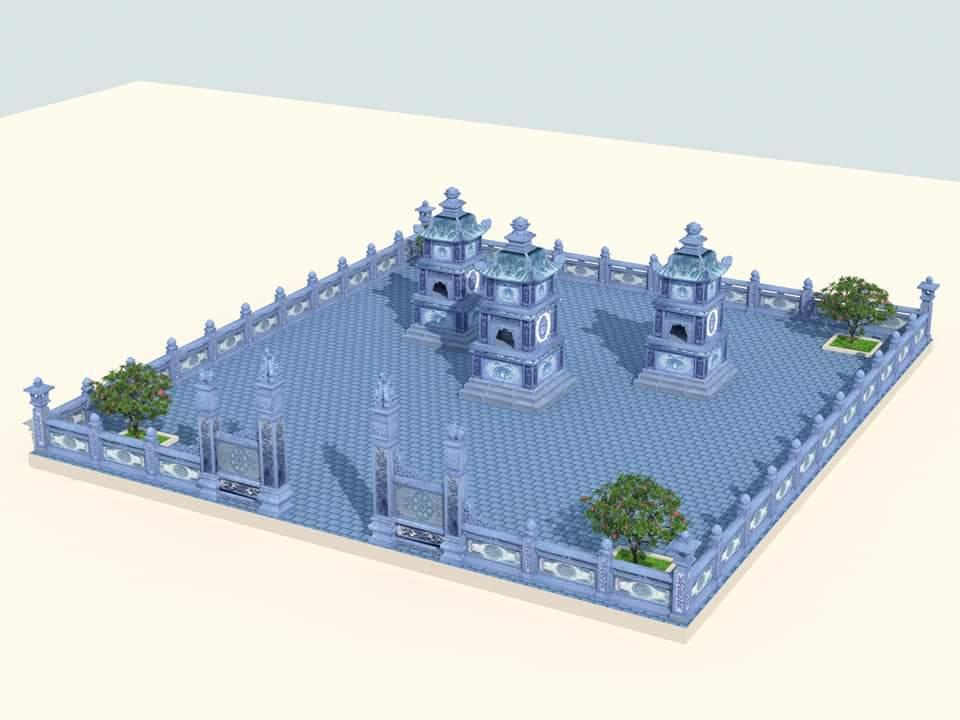 Tư vấn, xây dựng Khu Lăng mộ đá Bảo tháp - Xây Vườn Bảo Tháp Đá (Mộ tháp đá) cho Các vị trụ trì ở Chùa Hà Tây