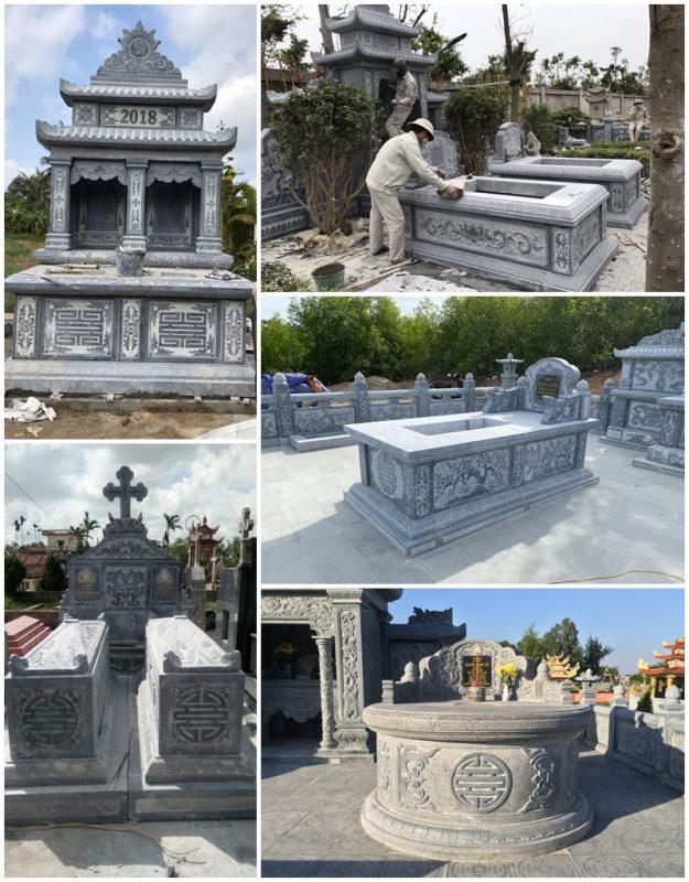 Tư vấn, xây dựng Mộ đá, Mẫu Mộ đá đẹp - Đá mỹ nghệ Gia Huy