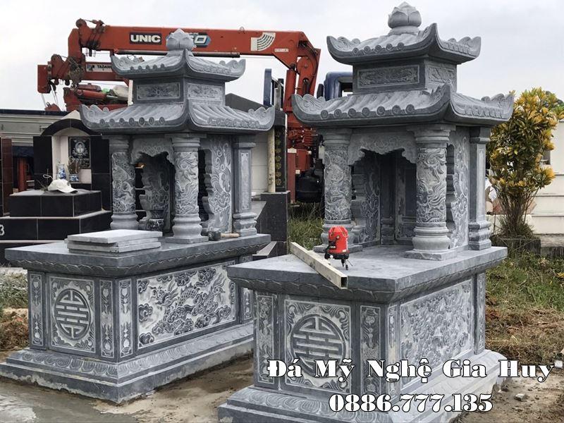 Xây mộ đá Tam Sơn hai mái đẹp trên toàn quốc