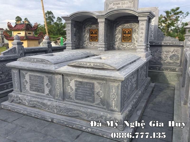 Mẫu Mộ đôi đá 1 mái Vòm cao cấp cho Bố - Mẹ của Gia chủ tại Nam Định