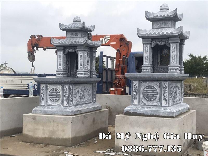 Xây Mộ hai mái ĐẸP cao cấp hiện nay tại Đá mỹ nghệ Ninh Bình