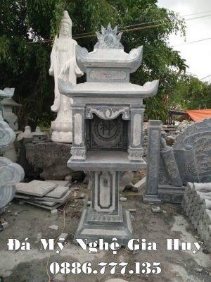 Báo giá kích thước Cây Hương bằng đá xanh đen tự nhiên.
